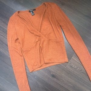 forever 21 rust long sleeve top